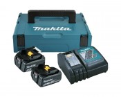 Makita Power Source-Kit 18V 5Ah 197624-2, 2x BL1850B + DC18RC