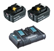Makita 199482-2 Power Source-Kit 18V 5Ah 2x BL1850B + DC18RD