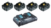 Makita 199483-0 Power Source-Kit 4x 5Ah BL1850B + DC18RD