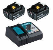 Makita 199480-6 Power Source-Kit 18V 6Ah 2x BL1860B + DC18RC